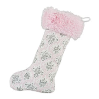 Madison Bella with Shaggy Pink Band Christmas Stocking