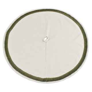 River Rock Suede Tree Skirt 51-inch Round with Leaf Variegated Fringe
