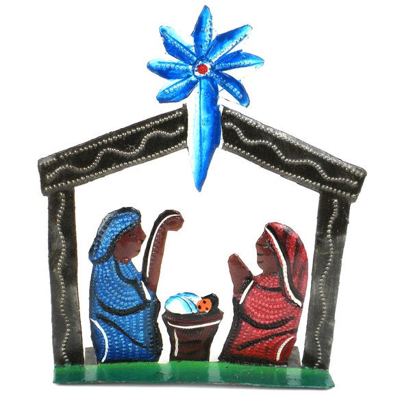 Standing Table Top Painted Nativity (Haiti)