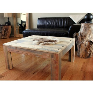Reclaimed Wood Industrial Parsons Table