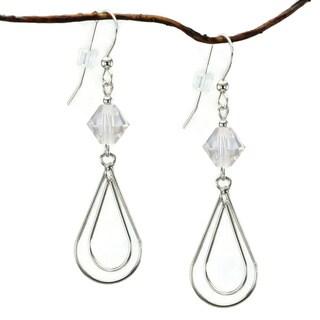 Jewelry by Dawn Sterling Silver Crystal Moonlight Double Teardrop Earrings