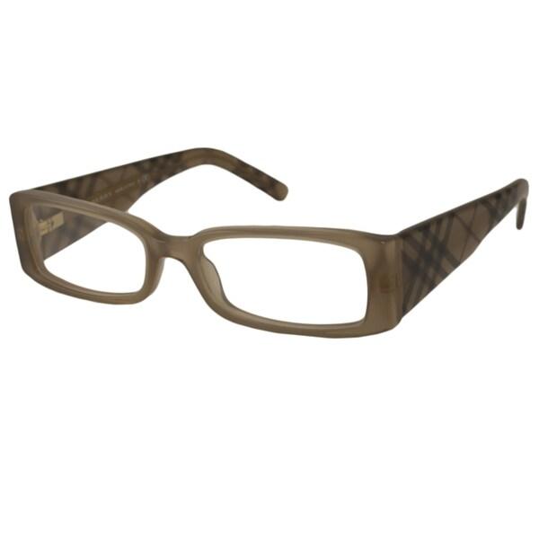 Burberry Reading Glasses Frames : Burberry Readers Womens BE2080 Rectangular Reading ...