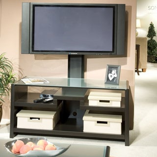 Kathy Ireland Office by Bush Furniture New York Skyline 3-in-1 Mocha TV Stand
