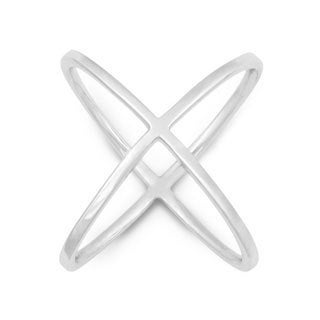 "La Preciosa Sterling Silver Criss-Cross ""X"" Ring"