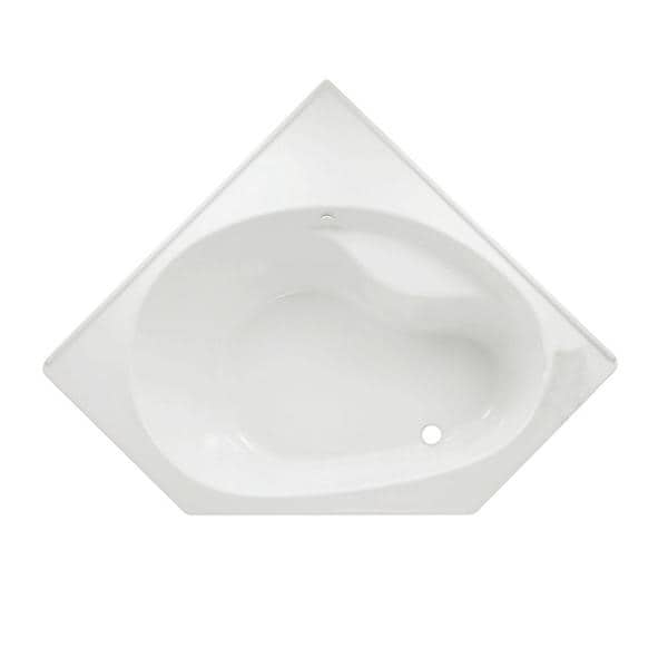 Scala Corner 5 x 5 White Bathtub with Right-Hand Drain