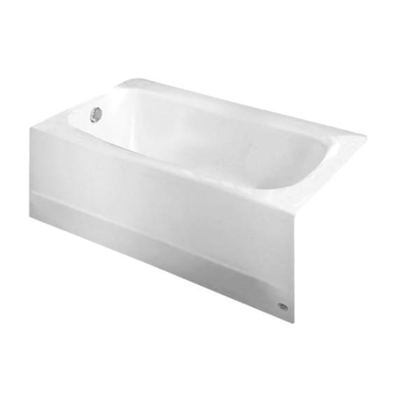 Cambridge 5-foot White Left Drain Bathtub
