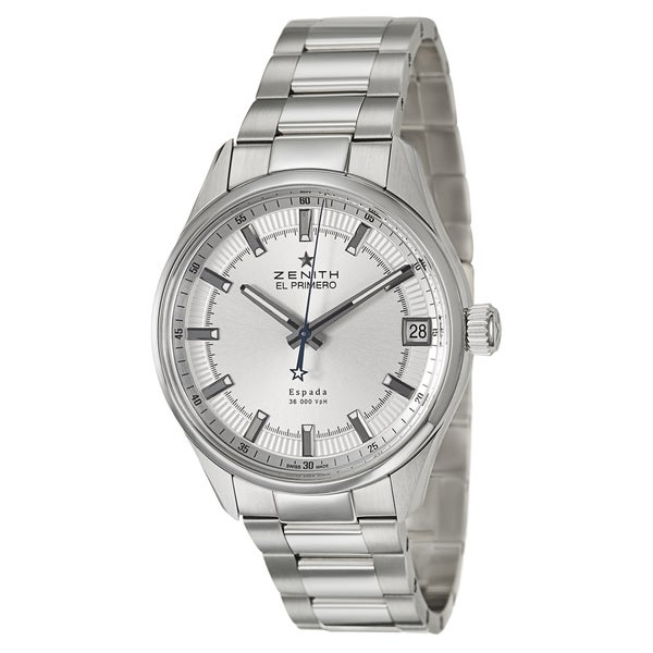 Zenith Men's 'El Primero Espada' Stainless Steel Swiss Mechanical Automatic Watch
