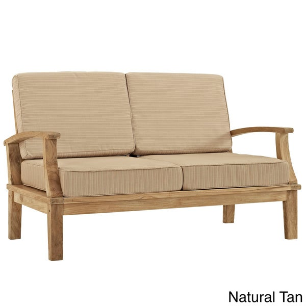 Pier Outdoor Patio Teak Loveseat Overstock Shopping Big Discounts On Modway Sofas Chairs
