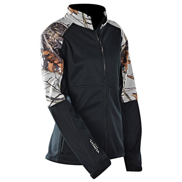 Yukon Gear Women's Mossy Oak/ Black Windproof Soft Shell Jacket