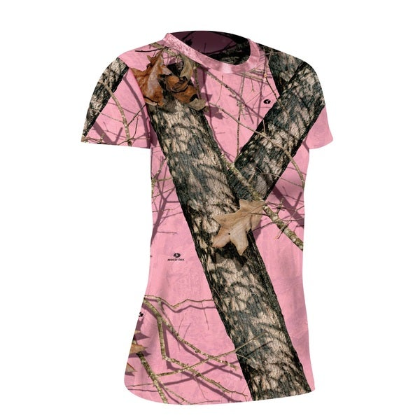 Yukon Gear Women's Mossy Oak Pink Burnout T-shirt