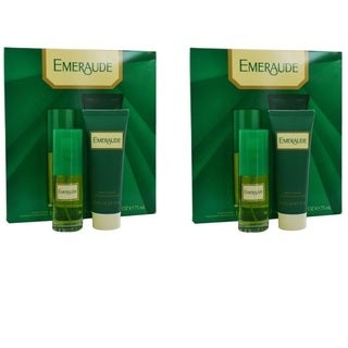 Emeraude Women's Cologne Spray & Body Lotion Gift Set (Pack of 2)