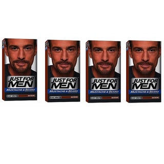 Just For Men Mustache & Beard Ash Brown M-20 Hair Color (Pack of 4)