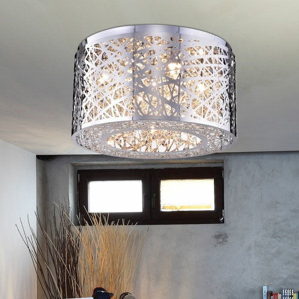 Rubens 5-light Chrome Chandelier