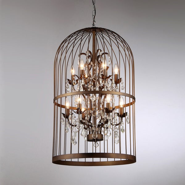 chandelier bird cage antique bronze light ceiling fixture. Black Bedroom Furniture Sets. Home Design Ideas