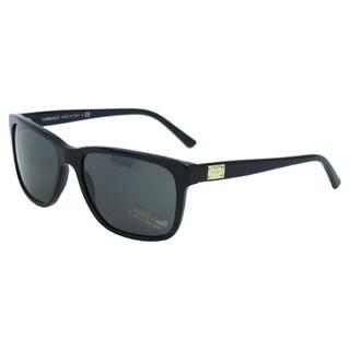 Versace Men's VE 4249 GB1/87 Shiny Black Rectangle Sunglasses