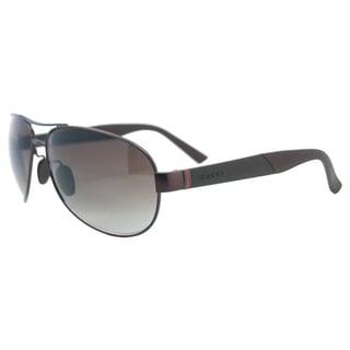 Gucci Men's GG 2225/S 8EJHA Brown Aviator Sunglasses