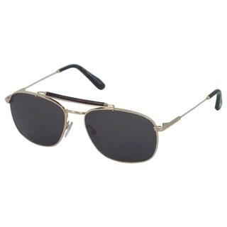 Tom Ford 'FT0339/S Marlon 28N' Rose Gold/ Green Aviator Sunglasses