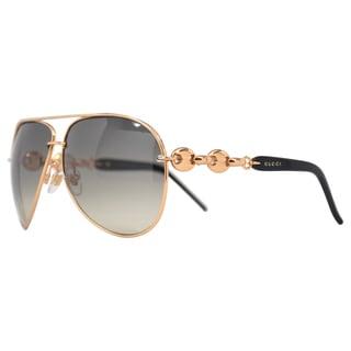 Gucci Women's 'GG 4225/S WL4AE' Rose Gold/ Black Fashion Sunglasses