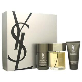 Yves Saint Laurent L'Homme Men's 3-piece Gift Set