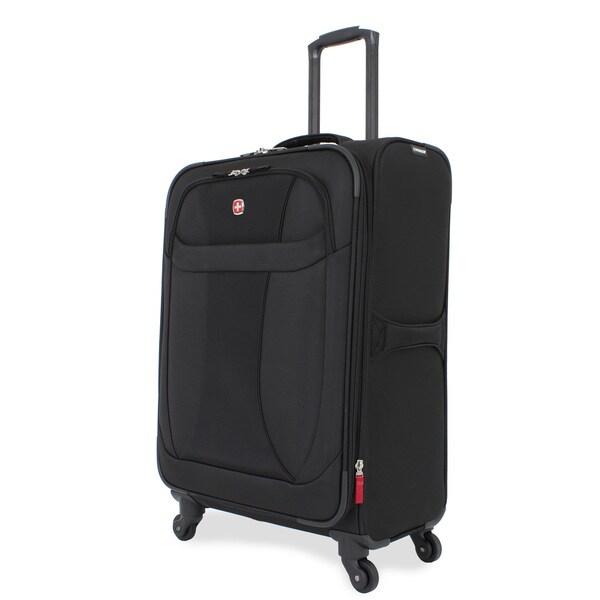 Wenger Lightweight Black 24-inch Medium Spinner Upright Suitcase