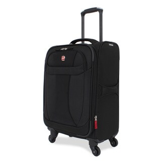 Wenger Lightweight Black 20-inch Carry-on Spinner Upright Suitcase