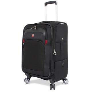 SwissGear Black 24.5-inch Medium Spinner Upright Suitcase