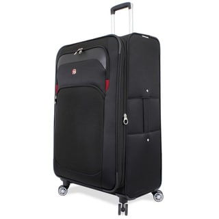 SwissGear Black 29-inch Large Spinner Upright Suitcase