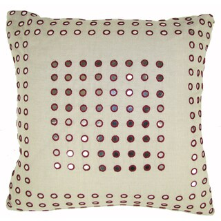 Plum Mirror Frame Feather-filled 20-inch Throw Pillow
