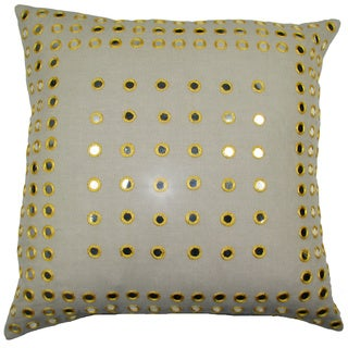 Yellow Mirror Frame Feather-filled 20-inch Throw Pillow