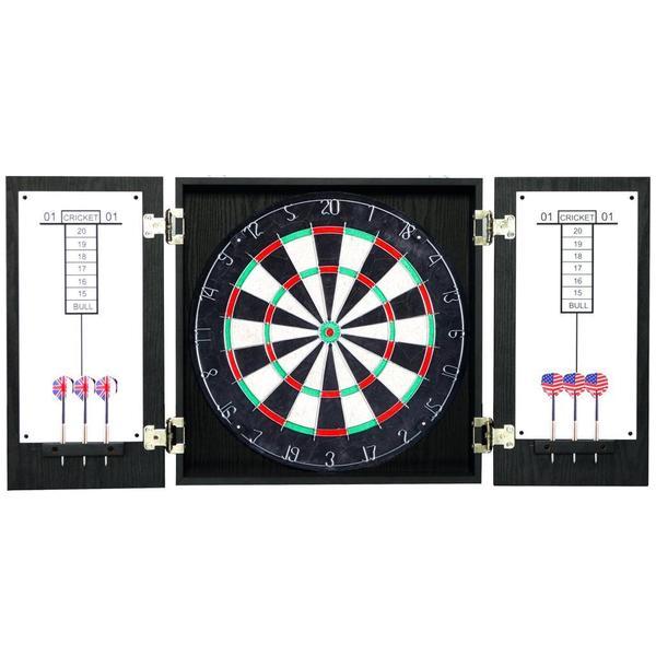 Winchester Black Dartboard and Cabinet Set