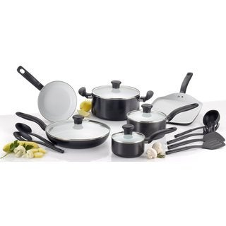 T-Fal Initiatives Ceramic Nonstick 16-piece Set
