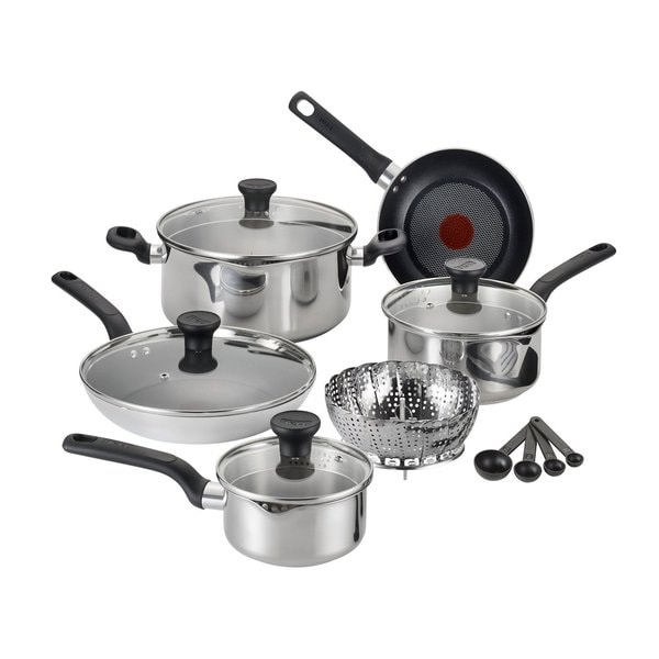 T-Fal Excite Stainless Steel 14-piece Set