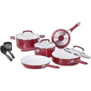 Wearever Pure Living Red Ceramic Non-stick 10-piece Cookware Set