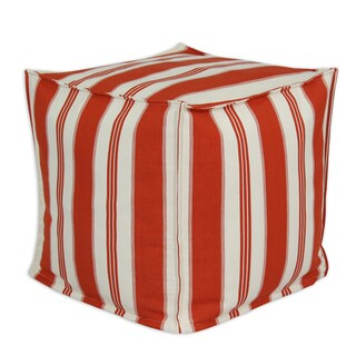 Trade Winds Lobster 17-inch Square Seamed Beads Hassock Pouf