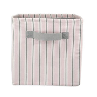Striped Isabella 11 x 10.75 Storage Bin with Handle