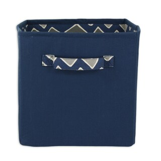 Deep Ocean Blue 11 x 10.75 Storage Bin with Handle