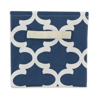 Moroccan Blue 11 x 10.75 Storage Bin with Handle