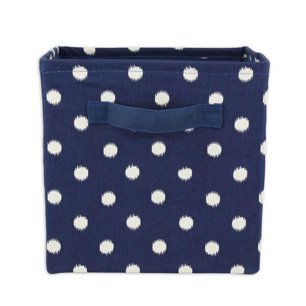 Polka Dot Wash 11 x 10.75 Storage Bin with Handle