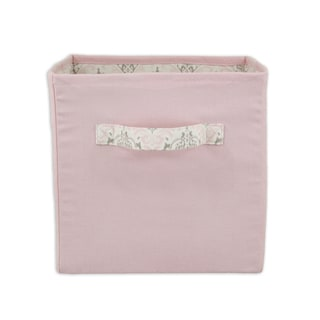 Pretty In Pink 11 x 10.75 Storage Bin with Handle