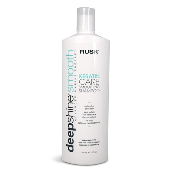 Rusk Deep Shine Smooth Keratin Care 12-ounce Smoothing Shampoo