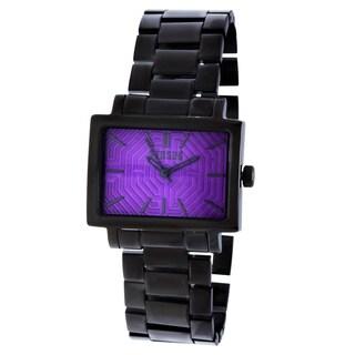 Versus by Versace Women's 3C63100000 Dazzle Purple Dial Black Watch