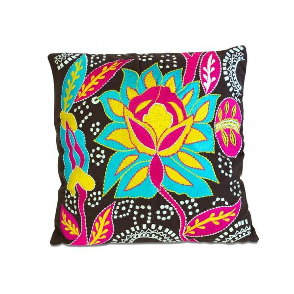 Retro Flower Throw Pillow