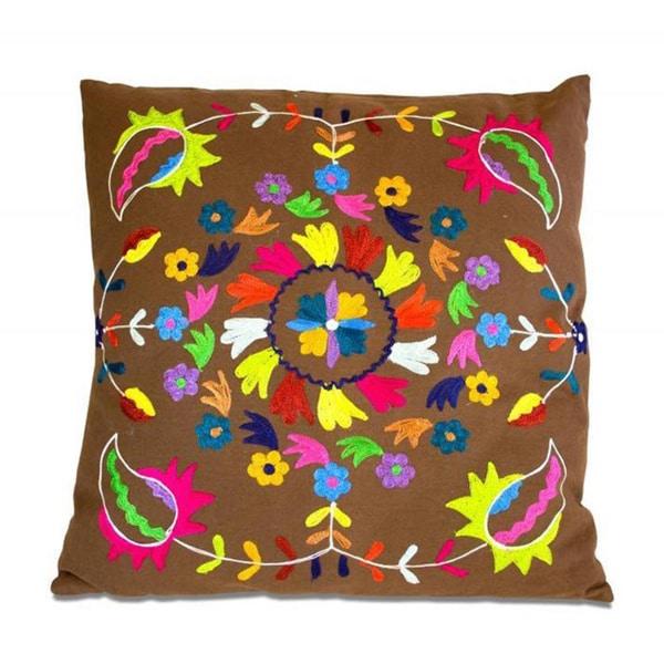 Circle of Petals Throw Pillow