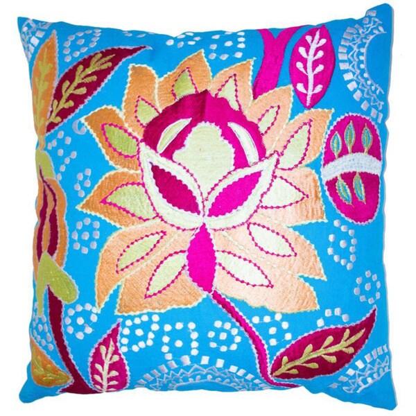 Bright Flower Throw Pillow