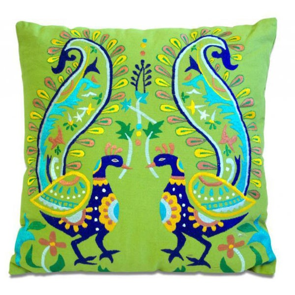 Proud Peacock 18-inch Throw Pillow