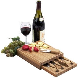 Picnic at Ascot Edam Bamboo Cheese Board Set