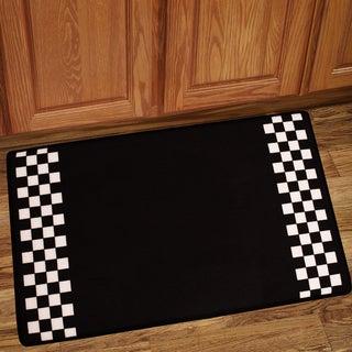 Checker Border Memory Foam Floor Mat