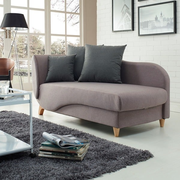 Corvus Lavender Lilac Sleeper Sofa with Push Down Back