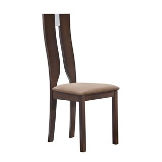 Cut-out Dark Walnut Dining Chair (Set of 2)