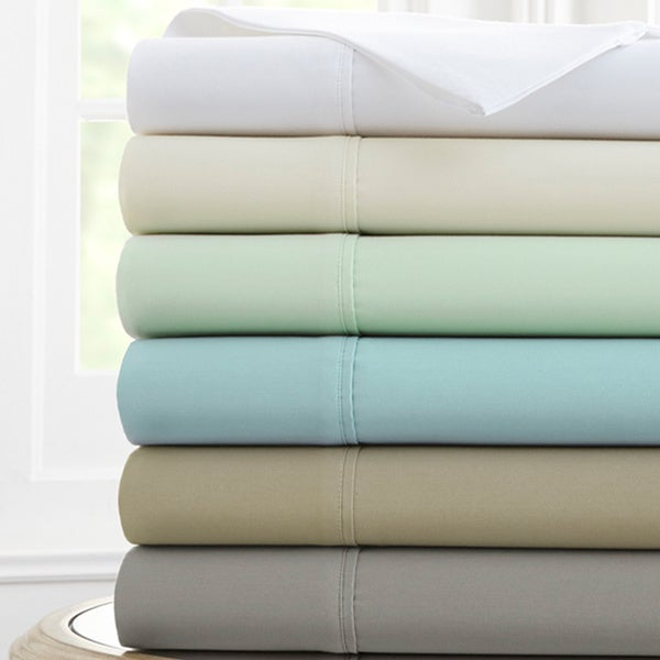 1000 Thread Count Solid 4-piece Sheet Set